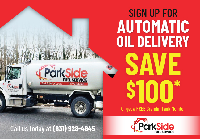 SAVE $100 when you sign up for Automatic Oil Delivery